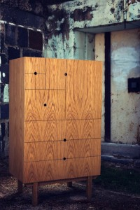 Our Danish inspired White Oak tallboy cabinet