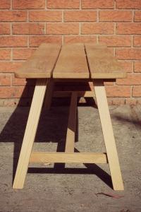 oak bench end
