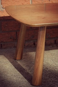 walnut coffee leg detail