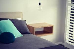 Custom Furniture -Floating Bedsides in Mountain Ash