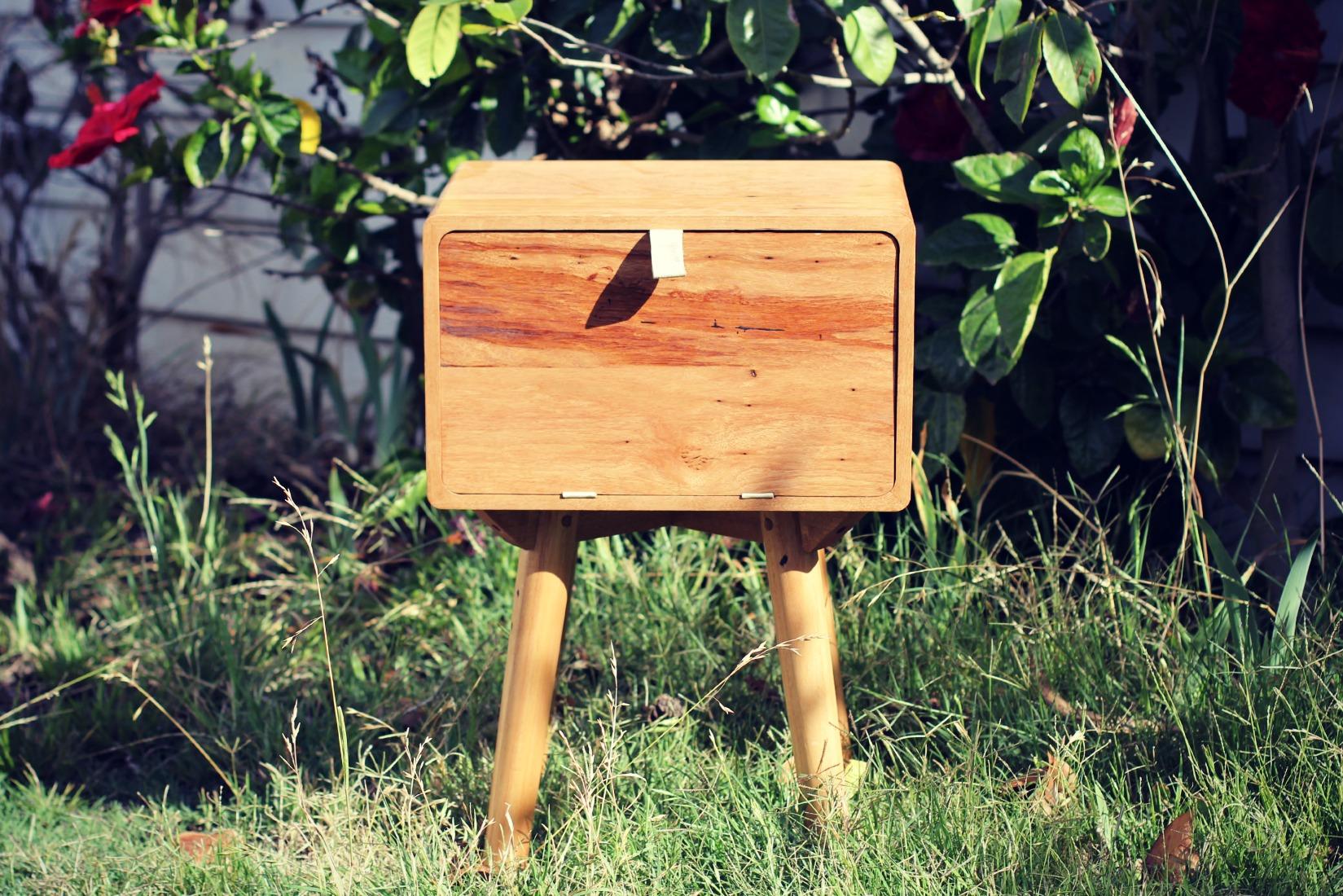 Reclaimed timber furniture - Messmate Bedside