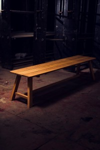 American White Oak Bench