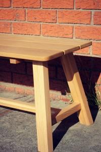 American White Oak Bench