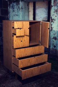 White Oak Veneer Cabinet
