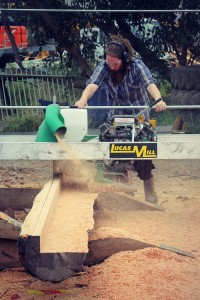 Milling Baltic Pine Logs