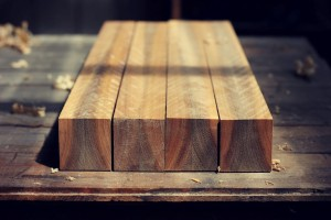 Book matched spotted gum legs