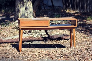 Custom Built Spotted Gum Console - Handmade Furniture Melbourne