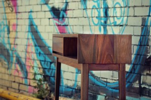 Spotted gum console 3a2