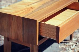 Custom built Console in Spotted Gum -Handmade Furniture Melbourne.