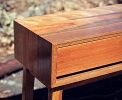 Custom Spotted Gum Console - Handmade furniture Melbourne.