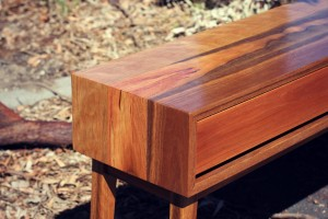 Spotted gum console 8