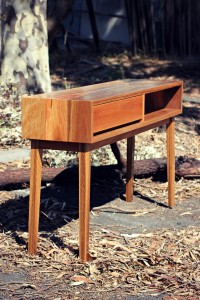 Spotted gum console 9