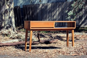 Custom built Console in Spotted Gum - Handmade Furniture Melbourne