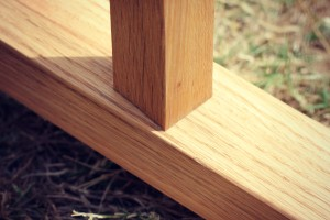Handcrafted furniture joinery - butt join