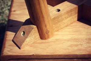 Handcrafted furniture joinery - Half Housing Join