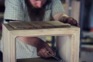 Handmade furniture in the workshop -Smith and thomas.