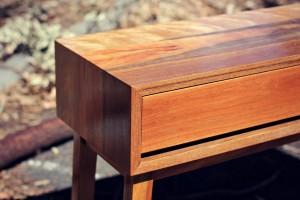 Custom Spotted Gum Console - Handmade furniture Melbourne.